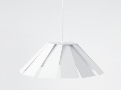 <b>Eolique </b><br />The Eolique suspension lamp is created through the formal movement of a basic geometric matrix.